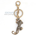 3D Simulation Leopard Animal Key Chain Ring Gold Jaguar Leapord Metal Keychains Personalized Animal Car Keychain