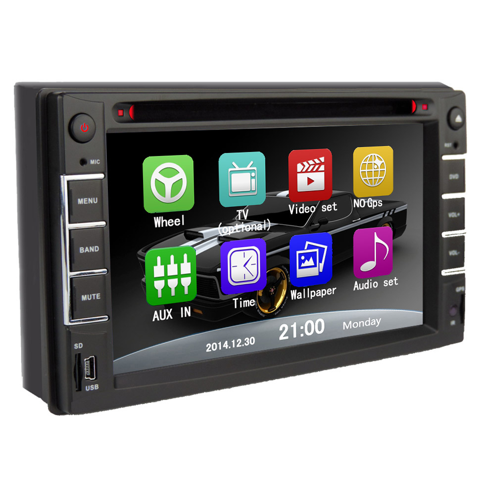 Free shipping Car Touchscreen DVD/CD/USB/SD/MP4/MP3 Player Receiver Bluetooth Streaming Bluetooth Hands-free with Remote NO GPS(China (Mainland))