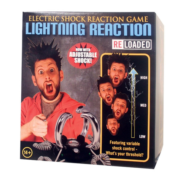Extreme Lightning Reaction Electric Shock Game / Reloaded Funny Board Role-playing Game Level adjustable(China (Mainland))