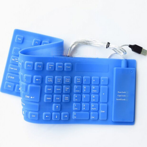 USB 2.0 Roll-up Waterproof Foldable Folding Flexible Silicone Wired Keyboard for PC Desktop Computer Windows 98SE/ Vista/ XP/Me(China (Mainland))