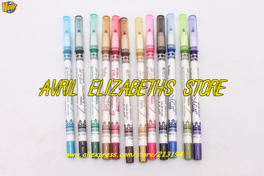 M.N 12 Color Eyeliner Pen Eye/Lipliner Pencil 1Bag=1Lot =12pc =12 Waterproof 12PC/LOT - Avril Elizabeth's Store store