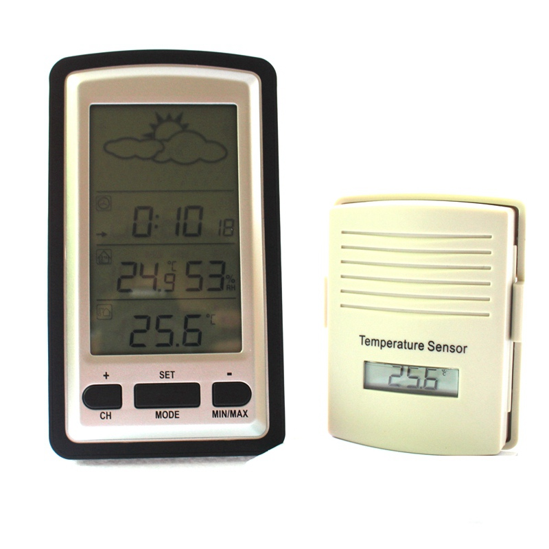 Wireless weather station Indoor Hygrometer indoor & outdoor Thermometer measure temperature humidity