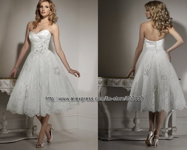 2012 new style short beach wedding dress prom gowns a409 for Short beach style wedding dresses