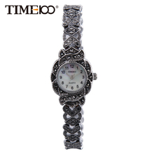 TIME100 Retro Women's Quartz Watches Stainless Steel Strap Small Shell Dial Causal Ladies Bracelet Watches Gift bayan kol saati