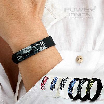 Титаново-ионные FIR 3D наручные браслеты PT048 Power Ionics с камуфляжным рисунком.