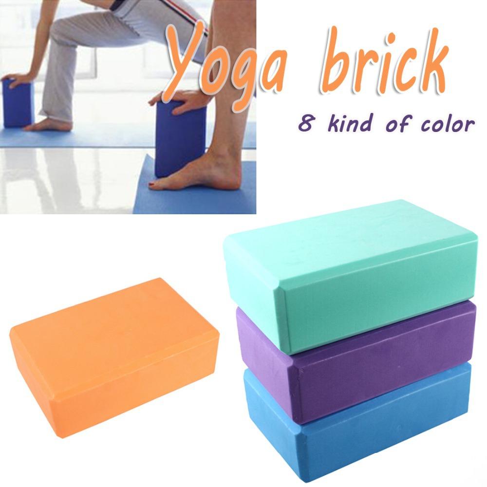 Women men eve square yoga blocks foam brick home exercise for Foam blocks for building houses