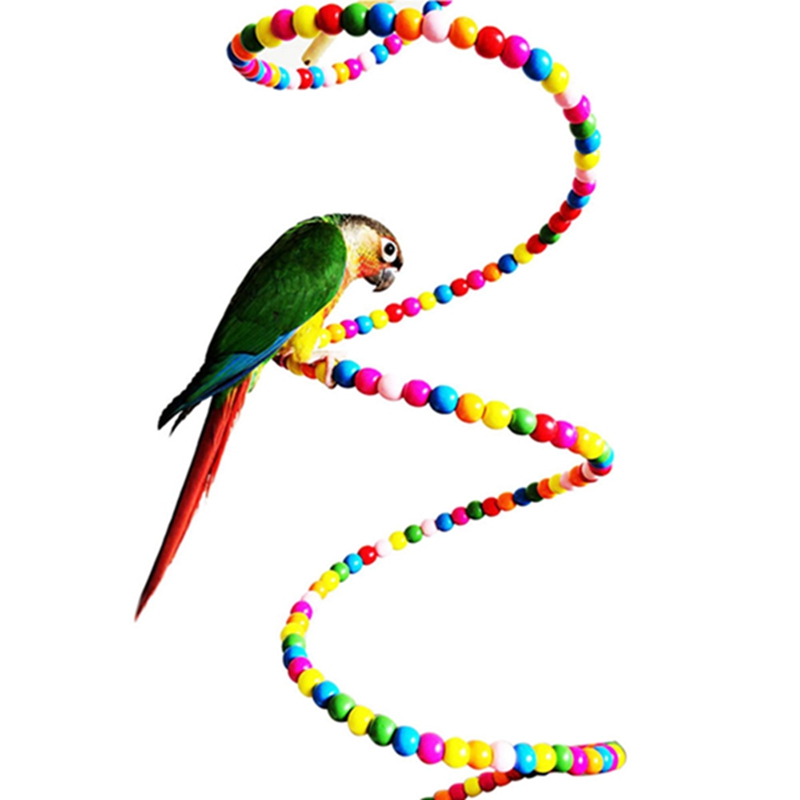 Parrot Swing Rope Harness Cage Toys Parakeet Cockatiel Colorful Budgie Spiral Ladder Stairs Standing Frame Staircase Birds Toys(China (Mainland))