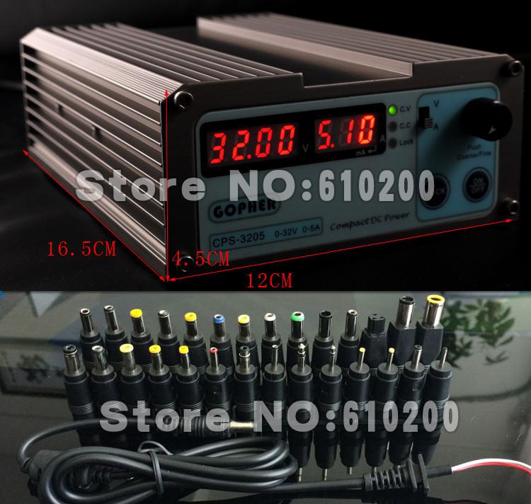 Laptop Repair Digital Adjustable DC Power Supply OVP/OCP/OTP 110V-230V 0.01V/0.01A EU plug + 22/PCS DC Power Jack HP IBM Dell...(China (Mainland))