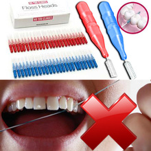 Tooth Flossing Head Oral Hygiene Dental Plastic Interdental Brush Toothpick Tooth Pick Brush Tooth Cleaning(China (Mainland))