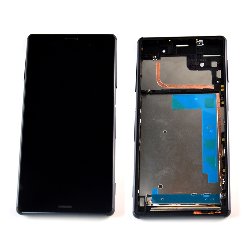 Black LCD Touch Screen with Digitizer assembly +frame For Sony Xperia Z3 D6603 D6643 D6653 , free shipping!!(China (Mainland))