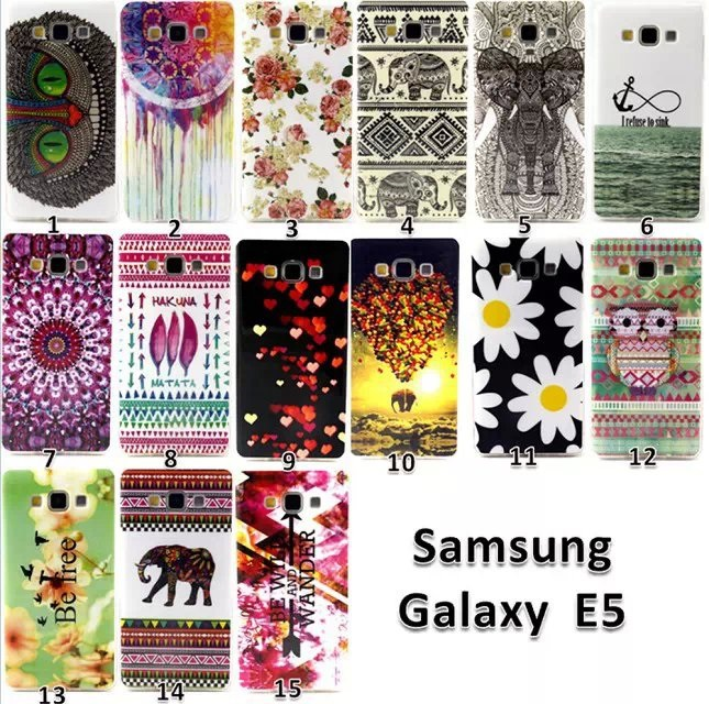 E5 Case Owl Painting TPU Silicone Mobile Phone Covers Samsung Galaxy Bag Fashion Style - Lucky baby Star store