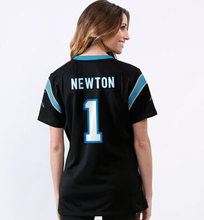 Women's lady size S-XXL 2016 free shipping,100% Stitiched,Carolina Panthers Cam Newton #1,camouflage(China (Mainland))