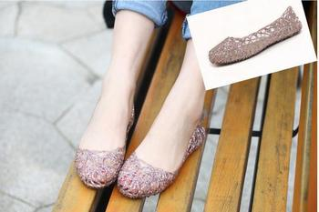 Supernova Sales New 2015 Feshion summer breathable women shoes jelly sandals nest mesh flats for women# 5699