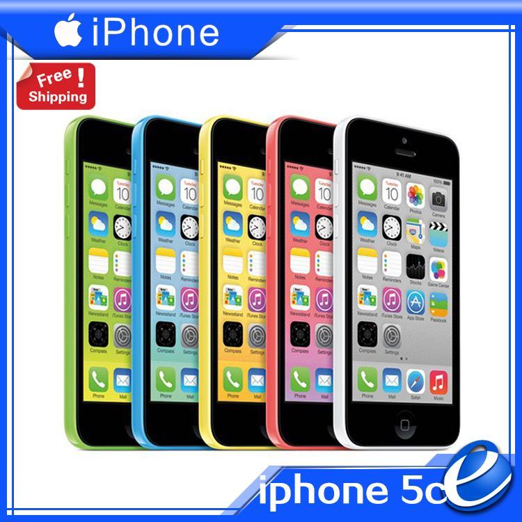 original iPhone5c factory unlocked Apple iphone 5C iOS phone 1G RAM 16G ROM 8MP WIFI GPS 4G color sealed USED cellphone warranty(China (Mainland))