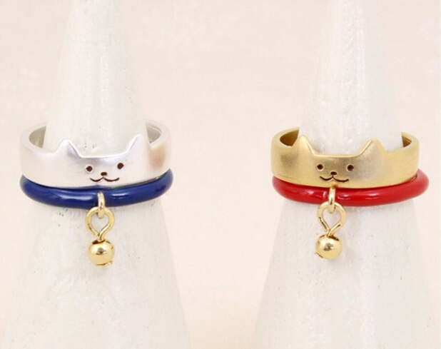 r147 free shipping plutus cat small finger rings the