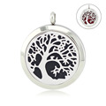 Chain as gift 316l stainless steel diffuser pendant necklace 30mm parfum locket silver magnetic aroma locket