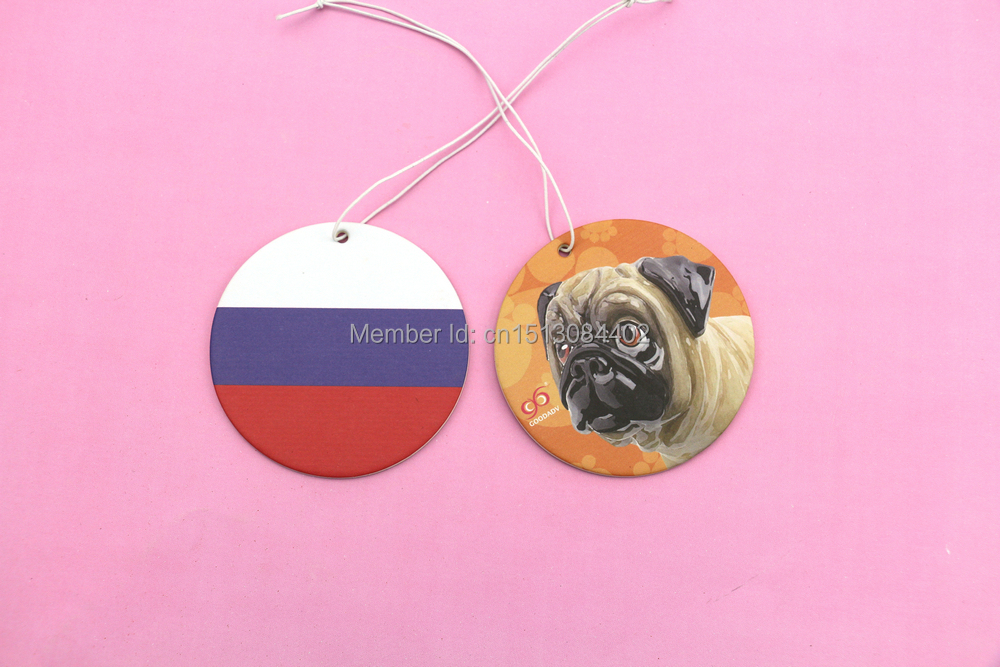 Best price for mixed order 2 designs flag & puppy series paper perfumed card which 9 perfumes for option now free shipping(China (Mainland))