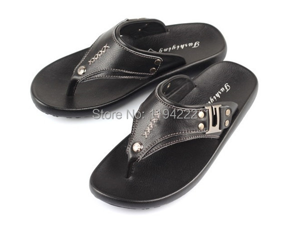 2014 Summer Men's Flip Flop buckle men's sandals outdoor slippers soft flexible TPR sole - Summer's Leisure Shop store