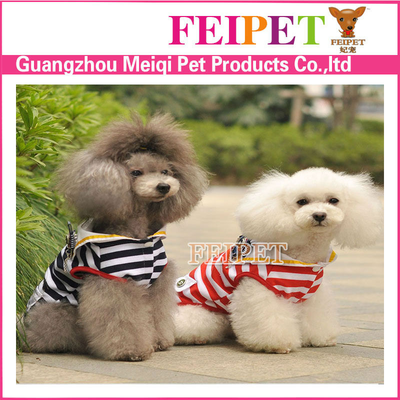 Free Shipping Navy Sailor Style Cute Small Dog Clothes Cheap Teacup Dog Clothes Cute Clothing For Dog In Summer Style For Puppy(China (Mainland))