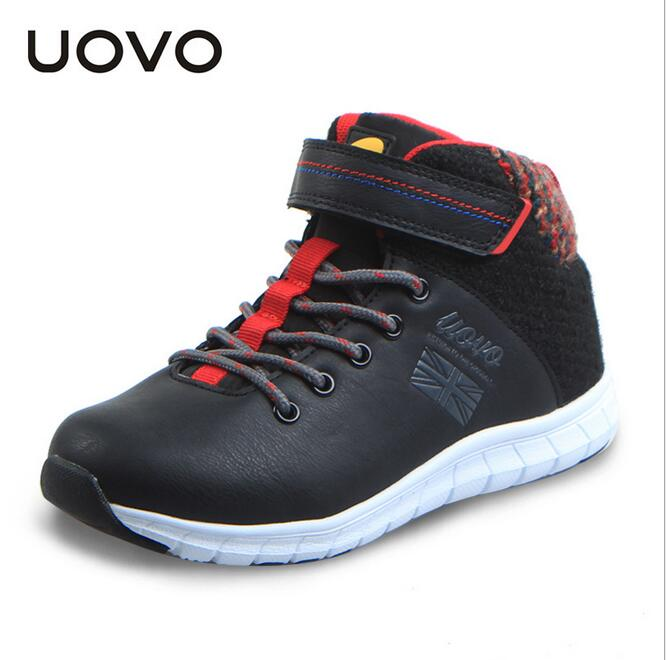 UOVO autumn winter 2016 children shoes mid-cut boys casual shoes fashion big boys shoes(China (Mainland))