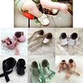 100 handmade Genuine Leather Mary Jane Ribbon baby shoes
