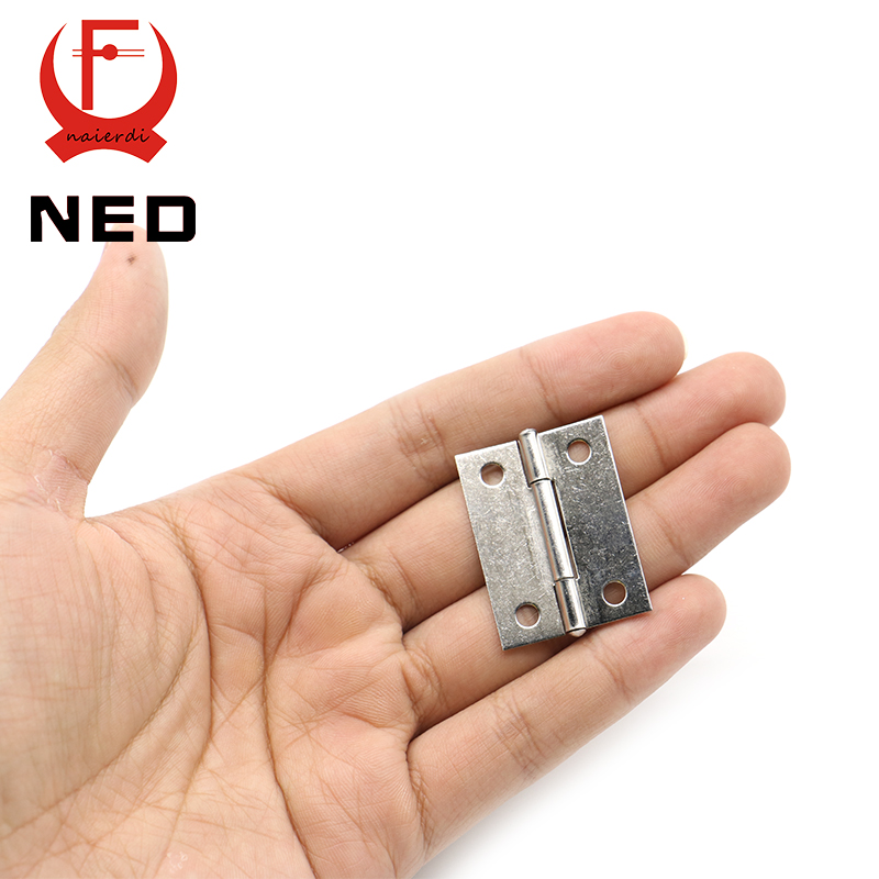 20pcs NED High Quality 1.5Inch Stainless Steel Mini Hinge 38mm*27mm Box Hinge 4 Holes Silver Cabinet Door Hinges(China (Mainland))