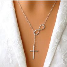 Hot Sale Fashion Jewelry Infinity Cross Pendant Necklace   36  pcs