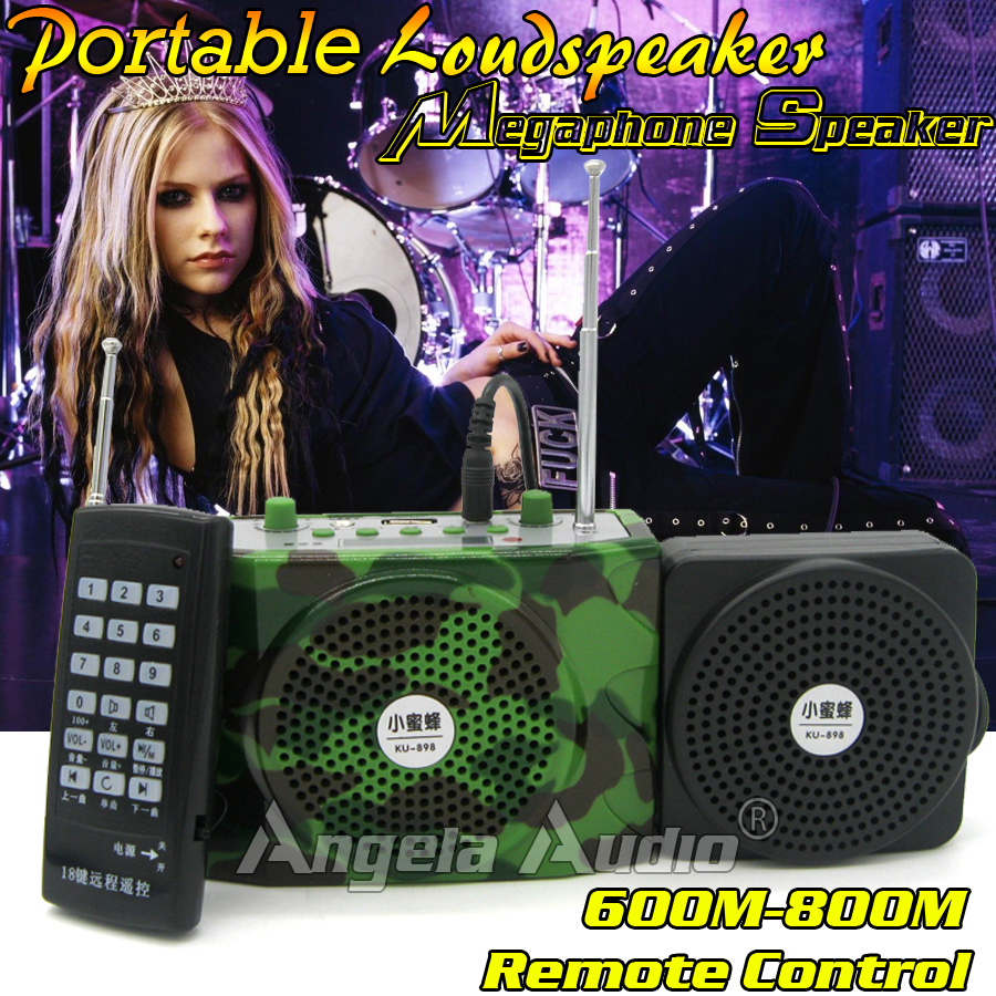 Outdoor Camo Portable Speakers USB SD Wireless FM Radio MP3 Player Stereo Voice Amplifier Loudspeaker With External Mini Speaker(China (Mainland))