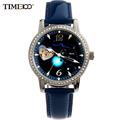TIME100 Women s 12 Constellation Taurus Automatic Self wind Mechanical Watch Diamond Ladies Leather Band Wrist