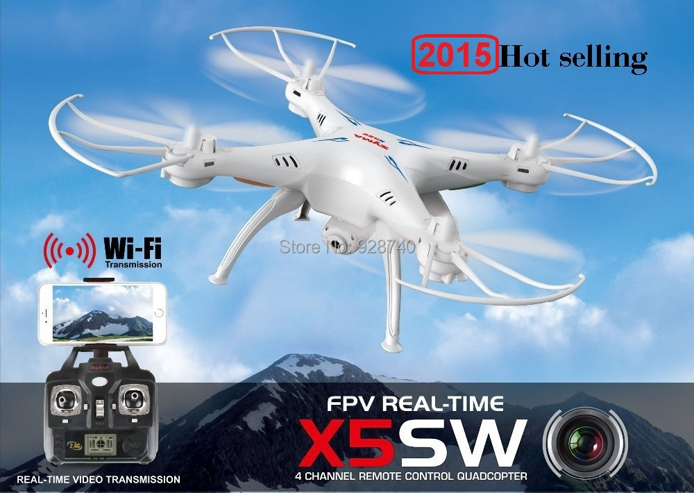 SYMA X5SW FPV RC Drone 2.4G 4CH 6-Axis Quadcopter With 2MP WiFi Camera Real Time Video Remote Control Helicopter Quadrocopter(China (Mainland))