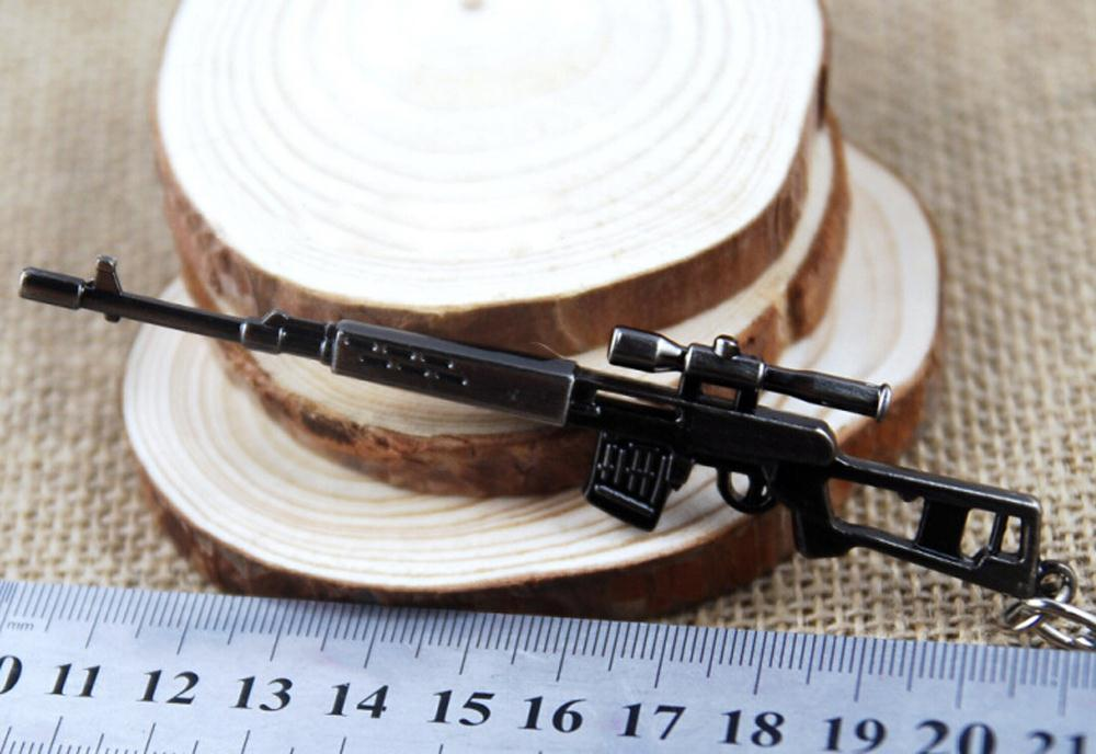 Гаджет  JEYL Mini Dragunov Sniper Gun Model Pendant Lobster Hook Keychain Gray None Изготовление под заказ