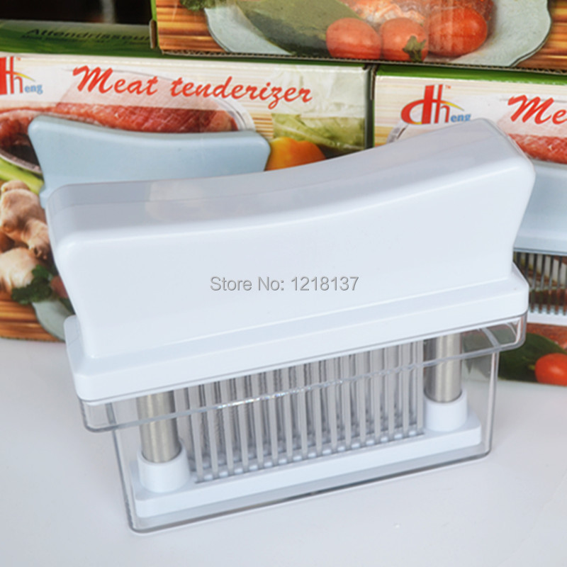 Meat tenderizer needles loose tendons device broken ribs knife barbecued meet needles 48pins(China (Mainland))