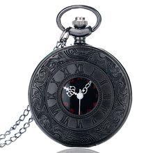 New Arrival Vintage Fashion Roman Number Quartz Steampunk Pocket Watch Men's Women Xmas Gift P427(China (Mainland))