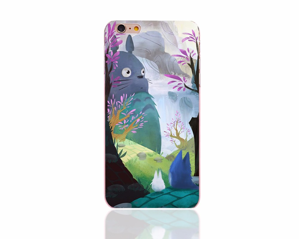 capinha 5s kawaii totoro coque transparent phone bag cover cases for iPhone6s 6 5 6plus panda style Accessorie phone cover