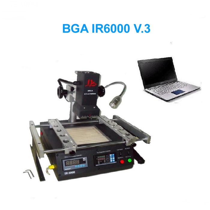 BGA reballing station IR6000 V.3 Infrared BGA rework station soldering machine for laptops/desktops/ps3 repairing(China (Mainland))