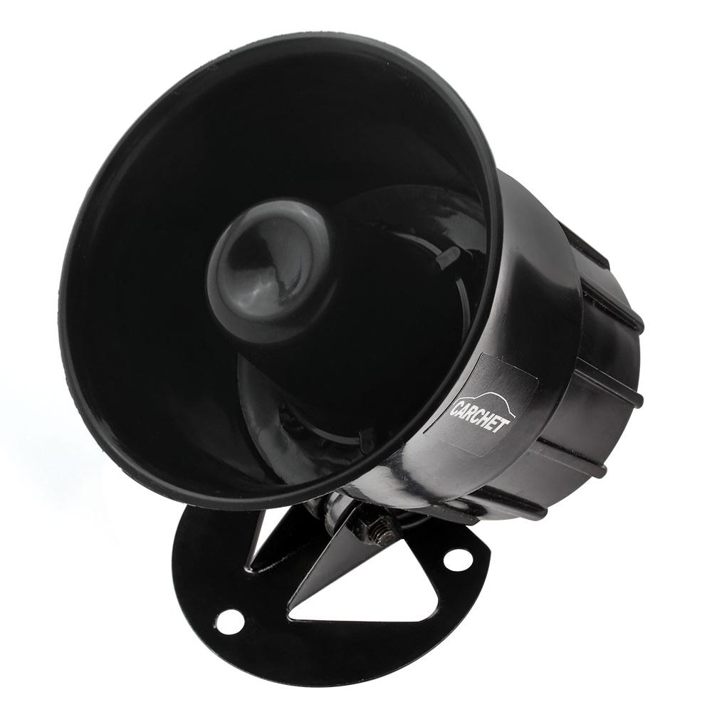 Motorcycle Horns 35W Car Auto Van Vehicle 3 Sounds Tone Loud Siren Security Horn 12V Black Car Accessories(China (Mainland))