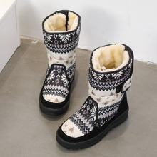 Buffie Winter Frauen stiefel grau farbe schnee boot warm plüsch pelz große volle größe kuh wildleder leder bindung Schuhe freies verschiffen beste(China)