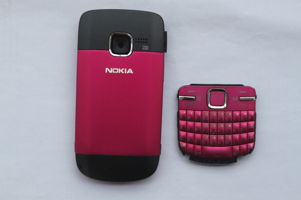 New Full Housing Cover Case with Keypad for Nokia C3  Full Complete Mobile Phone Housing Cover Case+Keypad For Nokia C3 C3-00 C3