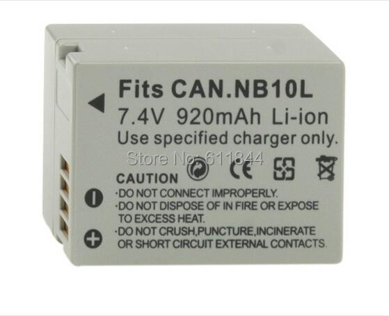 NB10L Battery Canon Digital Camera - Lead-Malldotcom store