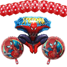 Buy 13pcs/lot spiderman balloon Latex Polka Dots Balloon spider man party inflatable helium foil balloons birthday party decoration for $2.14 in AliExpress store