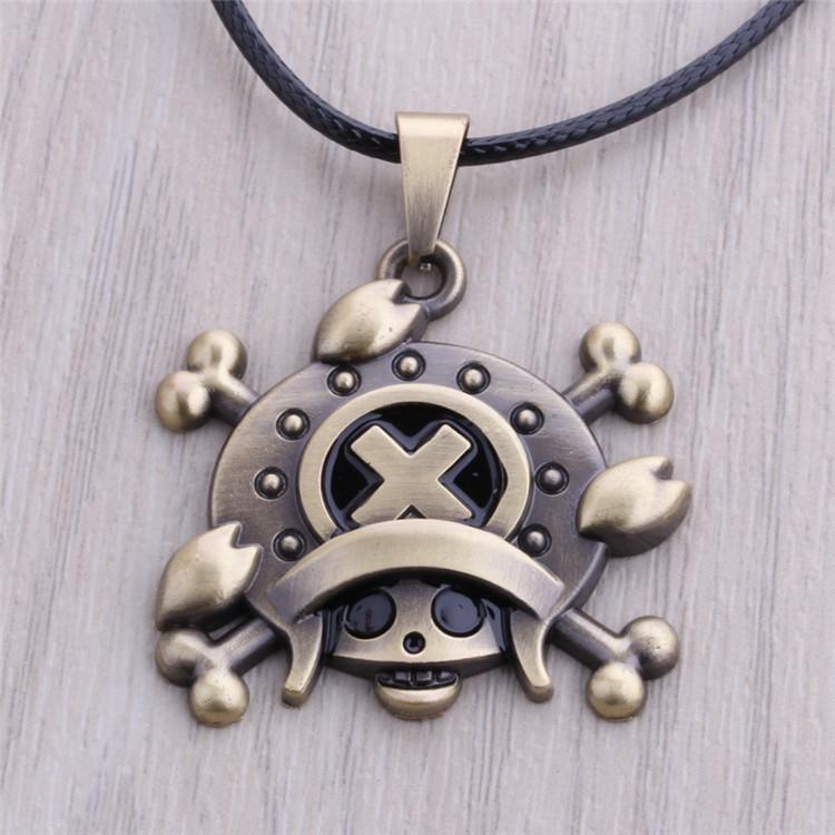 Тони чоппер бронзовый ожерелье аниме одна часть игрушка фигура аксессуары подарок луффи ювелирных изделий