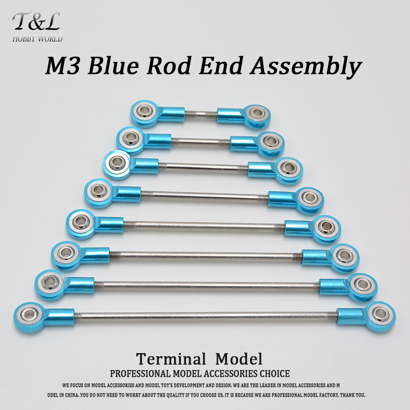 Aluminum M3 Blue Link Rod End Ball Joint Metal Tie Rod End Assembly High Precision(China (Mainland))
