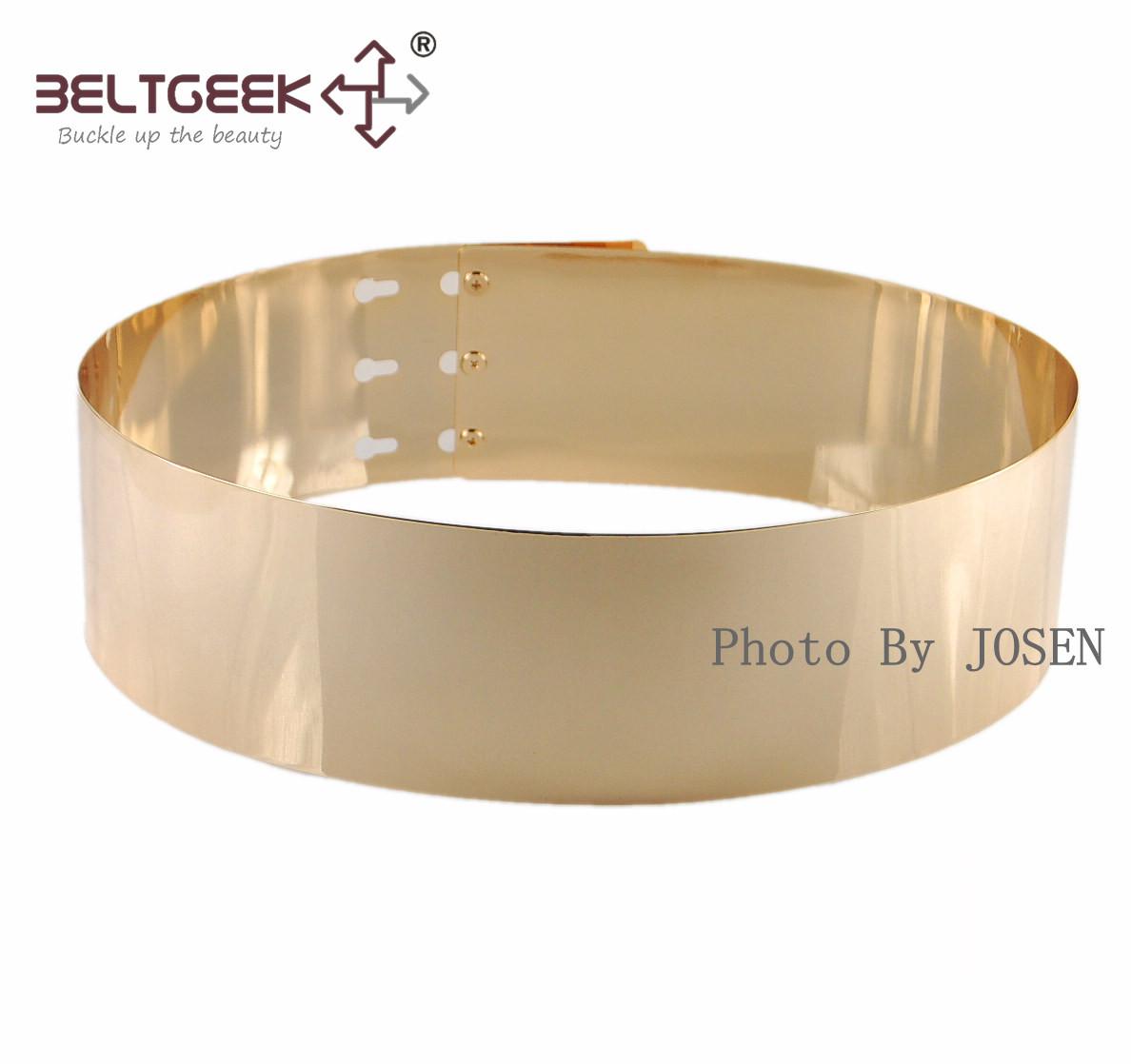 2014 New Fashion 7cm Width Metal Mirror Cummerbunds Women Wide Gold Belt 3100706 - Boutique cottages store
