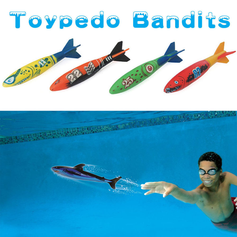 4 Pieces Swimming Toypedo Bandits Diving Toys Games Sport Outdoor Play Pools Water Fun Pool Toys Dive Rings(China (Mainland))