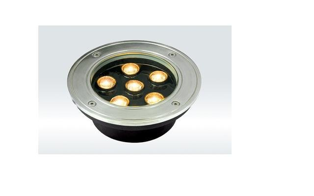 6*1W led underground light, size:dia150*60mm;12/24V input,45/60 beam angle, R/Y/G/B/W color optional,please advise for order