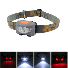 Headlamp 4 Mode waterproof head lamp aaa high power headlight White +2 Red SMD linterna frontal camping head light