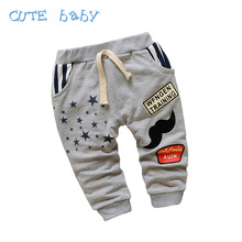 New 2016 Spring Children's Pants Boys Cotton Cute Stars Pattern Baby Pants Boy All-Match Kids Pants For Boy Baby 7-24M