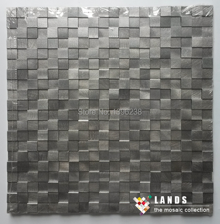 aluminium  mosaic tiles,mosaic tiles for wall,new metal mosaic tiles LSAL1501