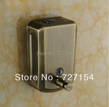 Free Shipping! Retro Style Bathroom Antique Bronze Stainless Steel Liquid Soap Dispenser Wall Mounted(China (Mainland))