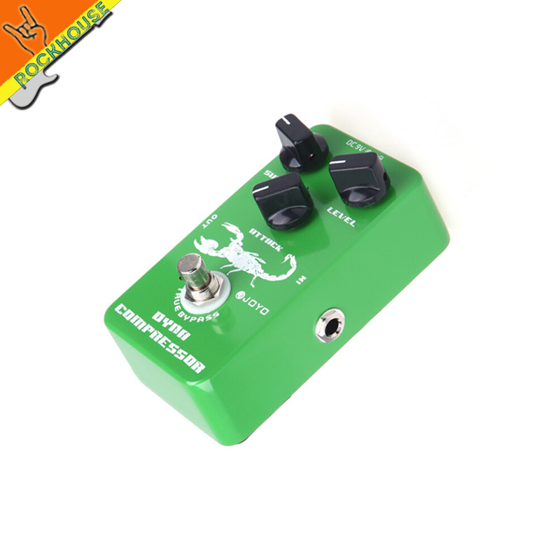 JOYO JF-10 Dynamic Compressor guitar Effect Pedal control Output dynamic less loss of tone ture metal shell bypass free shipping
